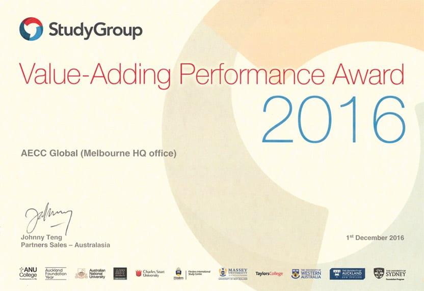 Value-Adding Performance Award 2016