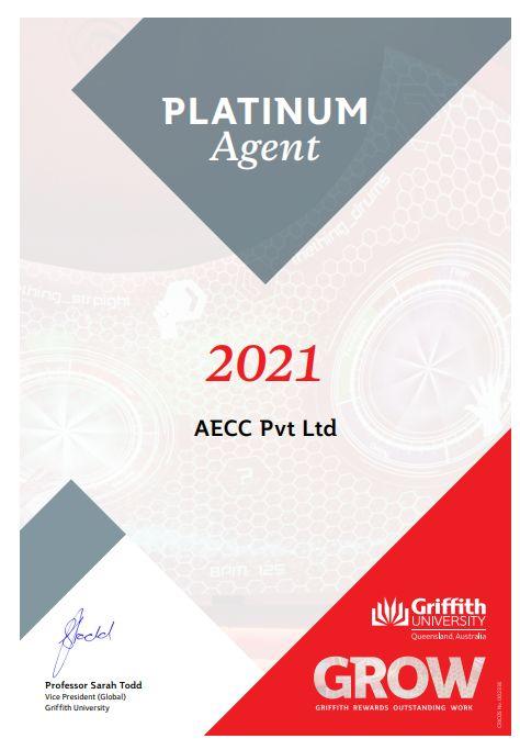 Platinum status under the 2020 GROW framework by the Griffith University, Australia